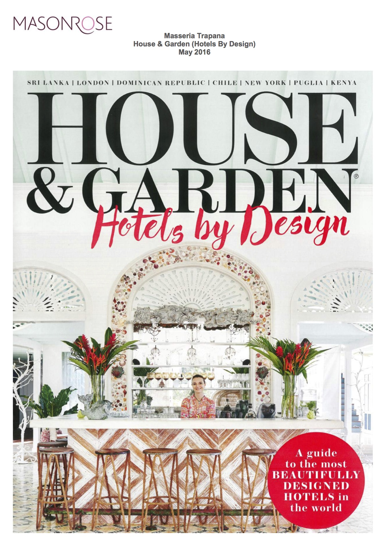 Homes & Garden (Hotels By Design) // May 2016 « Masseria rapanà - ^